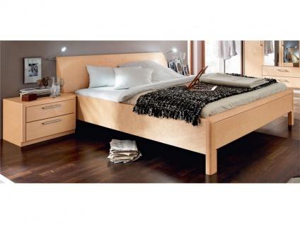 Disselkamp Coretta Doppelbett Leger in Luxushöhe Bett für Schlafzimmer Größe, Front / Korpus, Konsolen und Leselicht wählbar
