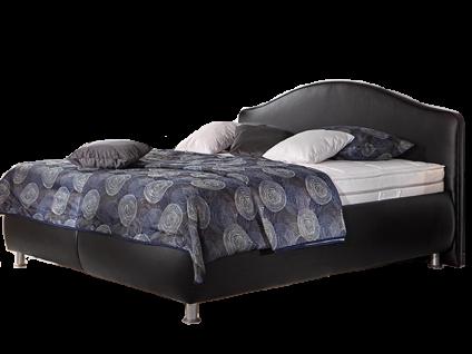 Oschmann Belcanto Polsterbett Fantasio 180x200 cm Liegefläche in schwarz Bettkasten 101 rund mit Kopfteil KT 0382 Matratze und Lattenrost