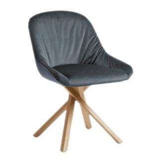 Hartmann Runa Polsterstuhl Anni 0632 mit Holzgestell Sitz und Rücken gepolstert mit Elastic-Aktiv-Federung Bezugsstoff und Farbe wählbar