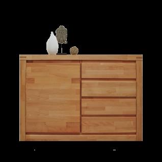 Elfo-Möbel Delft Kommode 6242 mit 1 Tür und 4 Schubkästen Kernbuche geölt Massivholz mit viel Stauraum für Ihr Schlafzimmer oder Wohnzimmer