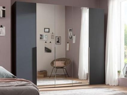 Nolte Express Möbel One 210 Drehtürenschrank 5-türig Türen außen in Korpusfarbe und die mittleren Türen mit Spiegelauflage, Griffausführung wählbar