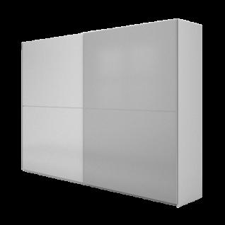 Nolte Möbel Concept Me 310 Schwebetürenschrank mit waagerechten Türsprosse Ausführung 1 Front in Farbglas matt ohne Farbausführung und Größe wählbar
