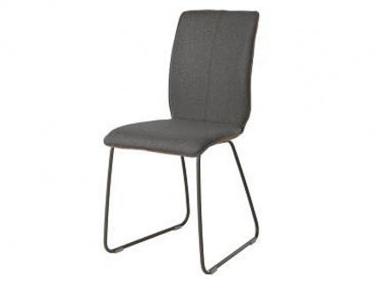 Bert Plantagie Stuhl Tara 811 Schlittengestell Bi-Color-Polsterung Polsterstuhl für Esszimmer Esszimmerstuhl Gestellausführung und Bezug in Leder oder Stoff wählbar