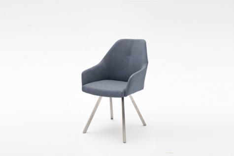 MCA furniture 2er Set Stuhl Madita Ausführung A - mit Kunstlederbezug Argentina, Farbe wählbar und Gestell 4-Fuß oval oder eckig, für Esszimmer und Wohnzimmer - Vorschau 5