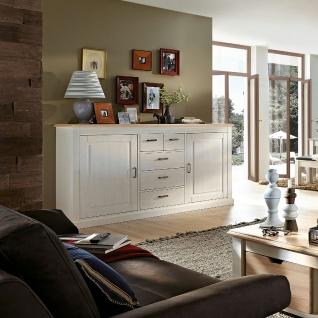 Wohn-Concept Lima Sideboard 20 in Pinie Hell Oberboden MDF Farbe wählbar Kommode mit zwei Holztüren und fünf Schubkästen für Ihr Wohnzimmer oder Esszimmer - Vorschau 3