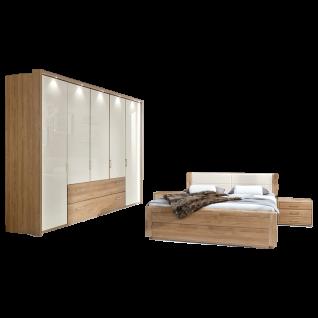 Wiemann Lido Schlafzimmer Bett Dreh-Gleittüren-Funktions-Panoramaschrank und 2 Nachtschränken Farbausführung wählbar