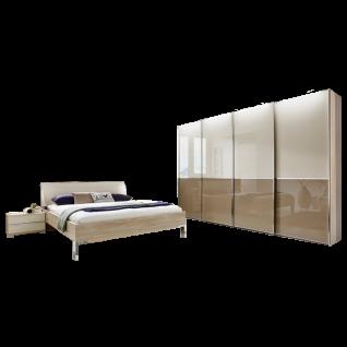Wiemann Shanghai Schlafzimmer-Set 4-teilig bestehend aus Futonbett, Schwebetürenschrank und Nachtkonsolen