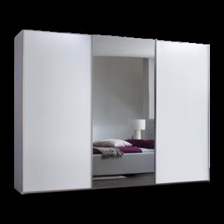 Nolte Möbel Savena / Evena Schwebetürenschrank Korpus in Dekor Front in Dekor mit Kristallspiegel Größe und Farbausführung wählbar optional Dämpfung