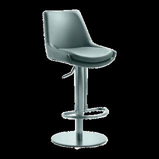 Mayer Sitzmöbel Barhocker myCOMFORT LINE 1221-564 Bezug Kunstleder grau Gestell mit Liftfunktion 360 Grad drehbar