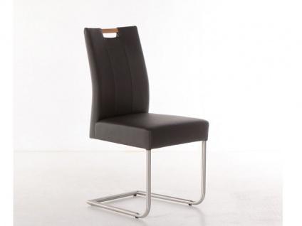 Standard furniture Stuhl Laura aus dem Stuhlsystem Shake it mit oder ohne Griff Polsterstuhl für Esszimmer Gestellausführung und Bezug in Kunstleder wählbar