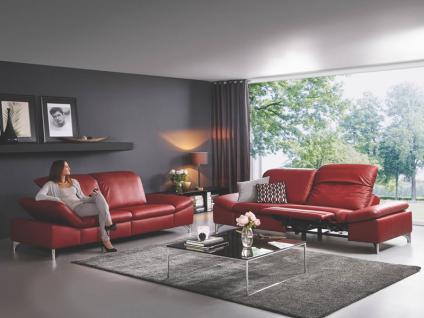 Willi Schillig 2 Einzelsofas N85 + N75 Enjoy Relax 35270 mit einer Seitenteilverstellung und einem ergoslide-Sitz ausgestattet mit glänzenden Metallfüßen in Stoff oder Leder
