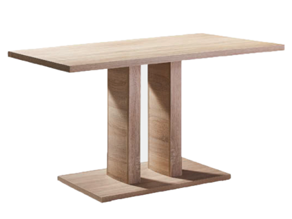 Schösswender Quattro 2-Säulentisch Modell Ulm Esstisch für Ihr Esszimmer mit Tischplatte und Bodenplatte im wählbaren Dekor Größe wählbar