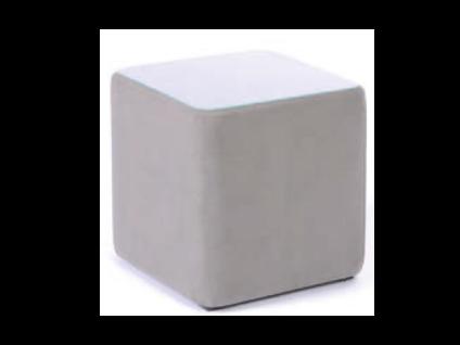 Oschmann Belcanto Beimöbel Konsole Würfel Nr. 39 einfarbig für Ihr Schlafzimmer mit Stoff bezogen Stoffgruppe wählbar