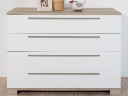 Paidi Carlo 3-teiliges Babyzimmer bestehend aus Kinderbett mit Airwell Comfort Lattenrost und Airwell 100 Kaltschaummatratze Wickelkommode 2-türiger Schiebetürenschrank schmal - Vorschau 5