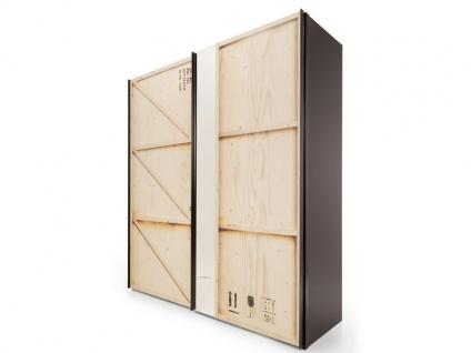 Nolte Express Möbel Caja Schwebetürenschrank 2-türig Kiste in der Breite 200 cm mit Teilspiegelauflage