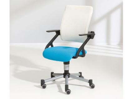 Paidi Schoolworld Tio Schreibtischstuhl Sitz und Lehne luftdurchlässiger 3D-Bezug Farbe wählbar Gestell silbergrau