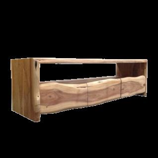 Sit Möbel ALBERA Lowboard mit offenem Fach aus Holz Akazie Front mit Baumkante