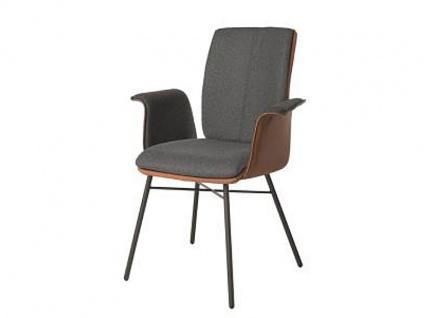 Bert Plantagie Stuhl Tara Four 832C Komfort mit Bi-Color-Mattenpolsterung (zweifarbig) Polsterstuhl für Esszimmer Esszimmerstuhl verschiedene Gestellausführungen und Bezug in Leder oder Stoff wählbar