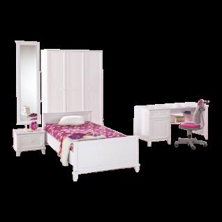 Paidi Sophia Kinderzimmer 6 teilig aus Kleiderschrank, Liege, Nachtkommode, Spiegel, Wandregal und Schreibtisch