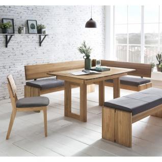 Standard Furniture Sitzbank Stockholm mit Truhe Gestell 1 Bezug SCARLETT in Nubukoptik grey Holzgestell Eiche natur - Vorschau 3