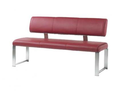 MWA Aktuell Como Sitzbank in Kunstleder oder Echtleder wählbar Bank wahlweise mit oder ohne Rückenlehne Größe wählbar - Vorschau 1