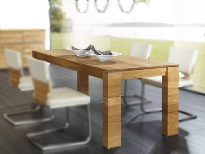 Wimmer acerro Esstisch 4-Fuß-Esstisch Massivholz mit fester Tischplatte für Esszimmer und Küche