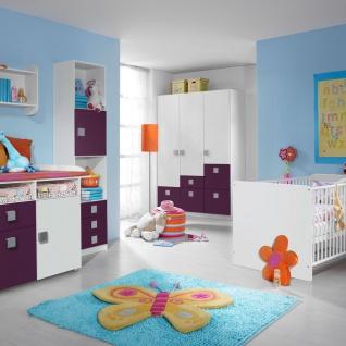 Rauch Skate Babyzimmer 3- teilig bestehend aus Drehtürenschrank Wickelkommode und babybett inklusive lattenroste Liegefläche ca. 70 x 140 cm Farbausführung wählbar optional mit Regal und Wandregal - Vorschau 2