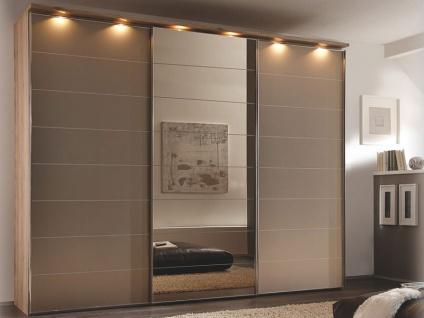Staud Sonate Modena Schwebetürenschrank Broncespiegel mit Teilsatinierter Spiegelfront Korpusdekor wählbar