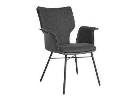 Bert Plantagie Stuhl Joni Four 732C Komfort mit Uni-Mattenpolsterung Polsterstuhl für Esszimmer Esszimmerstuhl mit Armlehnen Gestellausführung und Bezug in Leder oder Stoff wählbar
