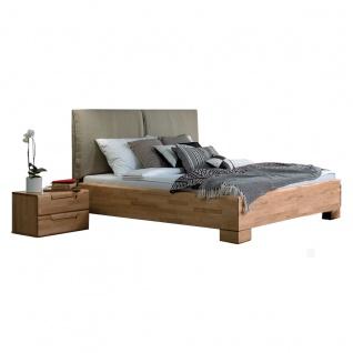 Dico Möbel Massivholzbett Massiva in Kernbuche geölt mit Polsterkopfteil Liegefläche wählbar optional mit Nachttisch - Vorschau 2