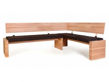 Standard Furniture Eckbank Woody moderne massive Bank mit Polstersitz für Esszimmer und Küche Größe und Ausführung wählbar