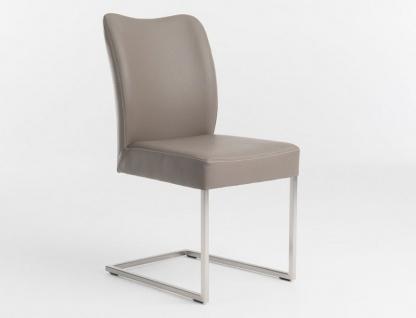 Bert Plantagie Duo Freischwinger mit Bi-Color Polsterung Stuhl für Esszimmer zweifarbiger Schwingstuhl Bezug in Leder oder Stoff wählbar