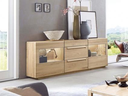 Wöstmann Sapio Sideboard Wildeiche Massivholz soft gebürstet Kommode für Wohnzimmer oder Esszimmer Zubehör wählbar