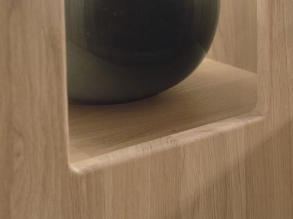 Wöstmann Bari 3000 Sideboard 2841 mit 3 Schubkästen und 1 Auszug sowie 4 Türen in Europäischer Wildeiche Massivholz soft gebürstet - Vorschau 5