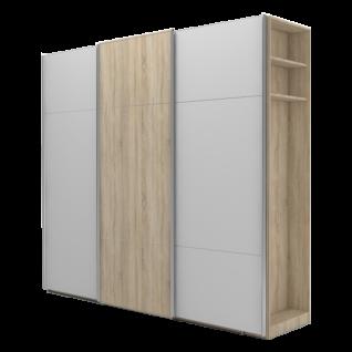 Nolte Möbel Marcato 2.3 Schwebetürenschrank Ausführung 3 mit 4 waagerechten Sprossen und 20er-Außenregal Schrankgröße Farbausführung konfigurierbar