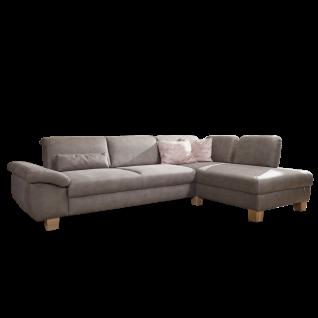 Dietsch Ecksofa Time in braunem Stoffbezug mit Soft-Sitzkomfort für einen komfortablen weichen Sitz