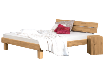 Neue Modular Primolar Bett Mondovi mit Kopfteil Mondovi und Füße Natura Liegefläche 180x200 cm optional mit Hocker