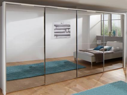 Nolte Marcato Schwebetüren-Panoramaschrank 4-türig Ausführung 2C mit Glastüren und oder Spiegeltüren Korpus Breite und Höhe wählbar Frontausführung wählbar