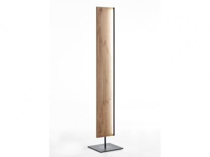 Hartmann Naturstücke Stehleuchte 1055 mit Bohle und Bodenplatte Metall anthrazit Lampe für Wohnzimmer oder Esszimmer in zwei Holzarten wählbar