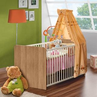 Forte Winnie Babyzimmer Babybett BBSL071 mit 3 Schlupfsprossen inkl. Lattenrost mit 3-facher Höhenverstellung Dekor wählbar - Vorschau 2