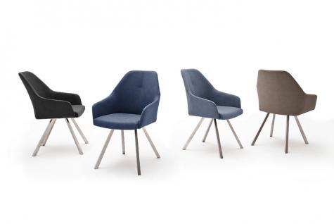 MCA furniture 2er Set Stuhl Madita Ausführung A - mit Kunstlederbezug Argentina, Farbe wählbar und Gestell 4-Fuß oval oder eckig, für Esszimmer und Wohnzimmer - Vorschau 1
