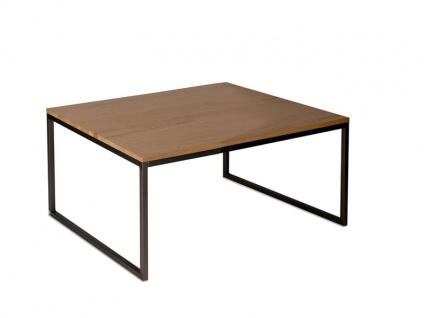 Vierhaus Couchtisch Varianta 2706 Größe ca.70x70 cm mit Gestell aus Stahl Schwarz, Tischplatte-Ausführung und Rollensatz wählbar - Vorschau 4