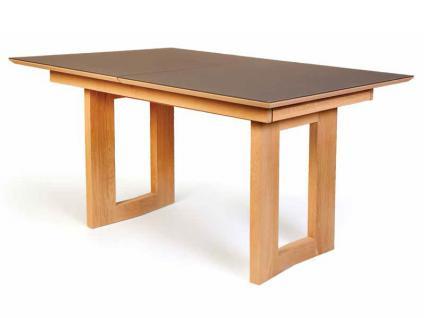 Standard Esstisch Komforto mit Holzplatte oder mit Glasplatte Tisch für Esszimmer Funktion Größe und Ausführung wählbar