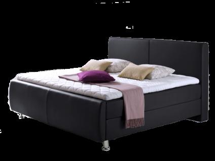 Meise Möbel Boxspringbett Amadeo mit Kunstlederbezug Farbe und Liegefläche wählbar Boxspring und Matratze mit Bonnell-Federkern mit Kopfteil Fußteil Metallfüße optional mit Topper