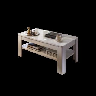 Wohn-Concept Alibaba Couchtisch 29 74 WW 02 moderner Wohnzimmertisch ca. 110 x 60 cm für Ihr Wohnzimmer in Weiß Hochglanz und Weiß matt