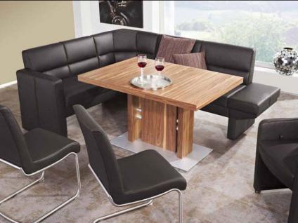 K+W Möbel Avanti 7994 Eckbank Sitzbank Seitenteil, 2x Bankelement mit Stauraum, Eckteil und Anbauhocker für Esszimmer Bank Silaxx Bezug Stoff oder Leder wählbar