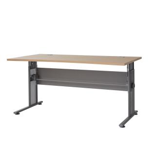 Germania Profi Schreibtisch 0650 mit C-Fuß höhenverstellbar Arbeitstisch ca. 160 x 80 cm mit Kabeldurchführung ideal für Homeoffice Büro oder Arbeitszimmer Farbe wählbar