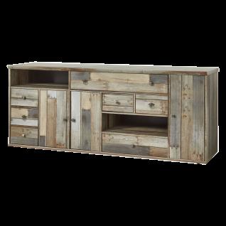 Innostyle Sideboard BONANZA 10 D0 DD 20 in Driftwood Nachbildung drei Holztüren sieben Schubkästen zwei offene Fächer für Ihr Wohnzimmer