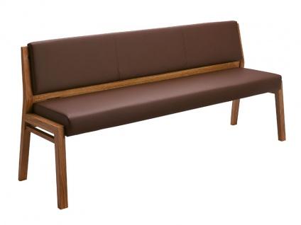 Schösswender Larissa Einzelbank Larissa-P für Esszimmer mit Polsterlehne und gepolstertem Sitz mit wählbarer Holzausführung und wählbarem Bezugsmaterial in verschiedenen Farben in verschiedenen Größen lieferbar