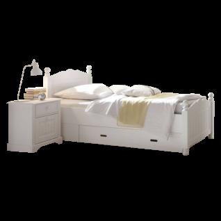 Schlafkontor Cinderella Premium Bett Liegefläche von ca. 90 - 200 x 200 cm wählbar sowie optional mit Nachtkommode und Bettkasten